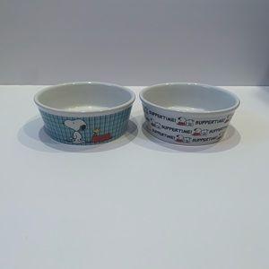 Snoopy pet bowls, set of 2